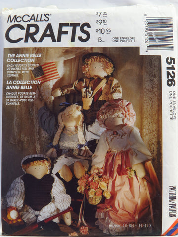 "McCall's 5126 Annie Belle 23"" Doll and Clothes -  - Smiths Depot Sewing Pattern Superstore"