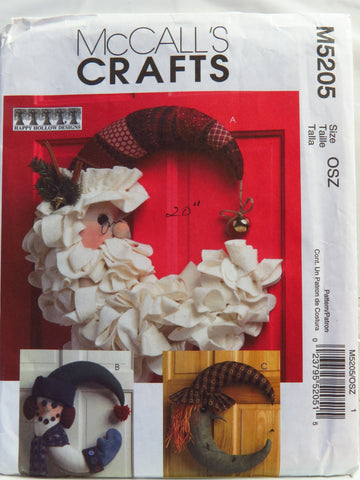 McCall's 5205 Seasonal Decorations -  - Smiths Depot Sewing Pattern Superstore