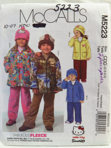 McCall's 5223 Children's/Boys'/Girls' Jacket, Pants and Hats - CDD (2-3-4-5) - Smiths Depot Sewing Pattern Superstore