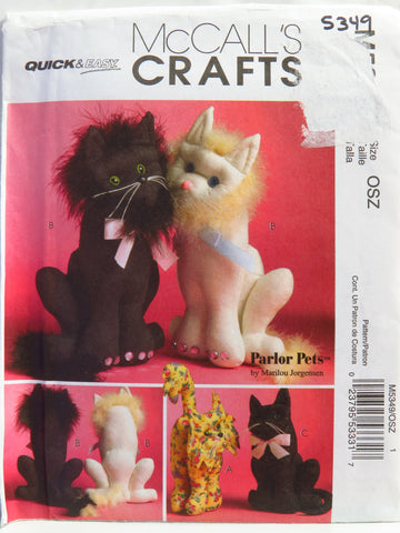 "McCall's 5349 10"" and 15"" Cats -  - Smiths Depot Sewing Pattern Superstore"