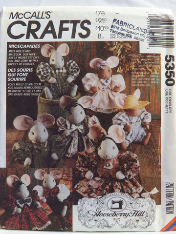 "McCall's 5350 Micecapades 15"" Mouse Doll and Clothes Package -  - Smiths Depot Sewing Pattern Superstore"