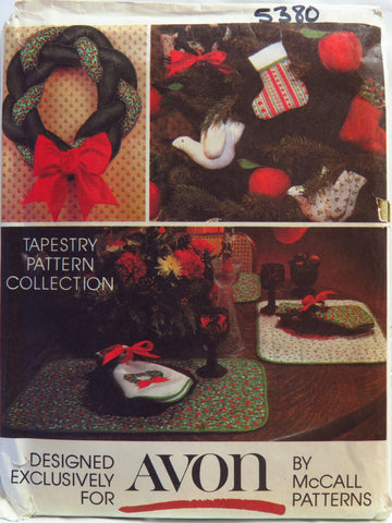 McCall's 5380 Christmas Decorations -  - Smiths Depot Sewing Pattern Superstore
