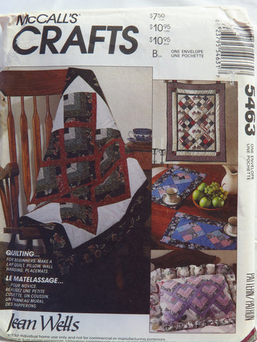 McCall's 5463 Beginners Quilting Package -  - Smiths Depot Sewing Pattern Superstore