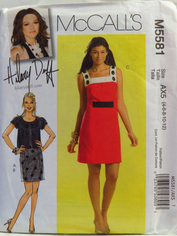 McCall's 5581 Misses' Jacket, Dress and Belt - AX5 (4-6-8-10-12) - Smiths Depot Sewing Pattern Superstore