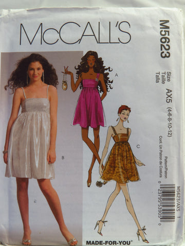 McCall's 5623 Misses' Dresses - AX5 (4-6-8-10-12) - Smiths Depot Sewing Pattern Superstore