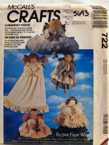 McCall's 0722 Angel Doll and Clothes Package -  - Smiths Depot Sewing Pattern Superstore