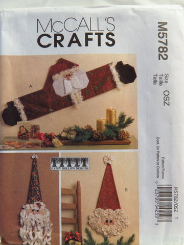 McCall's 5782 Santa Wall and Door Decorations -  - Smiths Depot Sewing Pattern Superstore