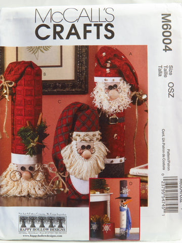 McCall's 6004 Snowman Greeter and Santa's -  - Smiths Depot Sewing Pattern Superstore