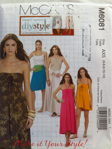 McCall's 6081 Misses' Skirt or Dress - AX5 (4-6-8-10-12) - Smiths Depot Sewing Pattern Superstore