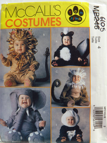 McCall's 0246 Toddlers' Costumes -  - Smiths Depot Sewing Pattern Superstore