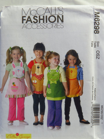 McCall's 6298 Children's Aprons -  - Smiths Depot Sewing Pattern Superstore