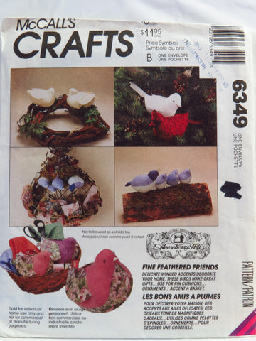 McCall's 6349 Decorator Bird Package -  - Smiths Depot Sewing Pattern Superstore