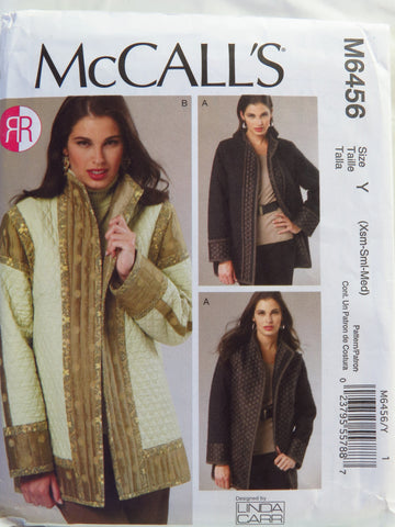 McCall's 6456 Misses' Reversible and Lined Jackets - Y (4-6-8-10-12-14) - Smiths Depot Sewing Pattern Superstore