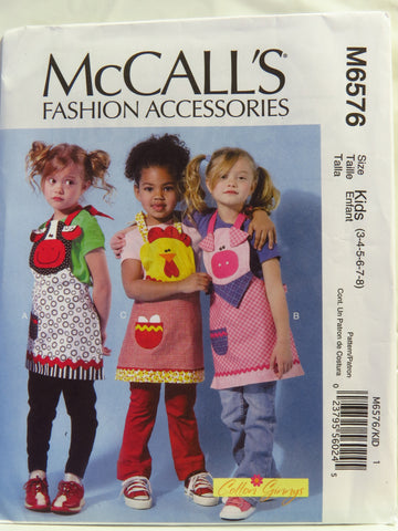 McCall's 6576 Children's Aprons -  - Smiths Depot Sewing Pattern Superstore