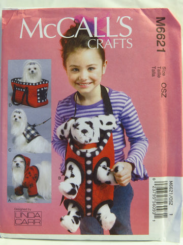 McCall's 6621 Cloth Dog Animal Accessories -  - Smiths Depot Sewing Pattern Superstore