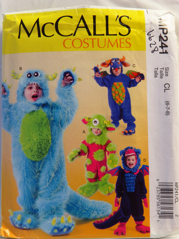 McCall's 0241 Children's/ Boys'/Girls' Costumes - CL (6-7-8) - Smiths Depot Sewing Pattern Superstore