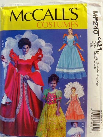 McCall's 0240 Misses'/Children's/Girls' Costume - Miss (8-10-12-14-16-18-20-22) - Smiths Depot Sewing Pattern Superstore