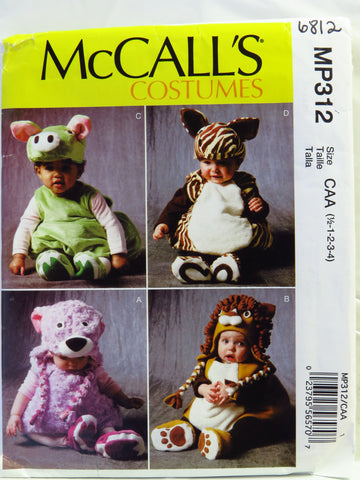 McCall's 0312 Toddlers' Costumes - CAA (½-1-2-3-4) - Smiths Depot Sewing Pattern Superstore