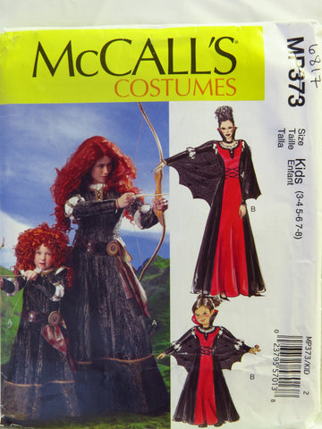 McCall's 0373 Misses', Children's and Girls' Costumes - Kids (3-4-5-6-7-8) - Smiths Depot Sewing Pattern Superstore  - 1