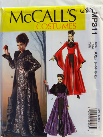 McCall's 0311 Misses' Coats, Capelet, Necklace, Cape and Dickey - AX5 (4-6-8-10-12) - Smiths Depot Sewing Pattern Superstore