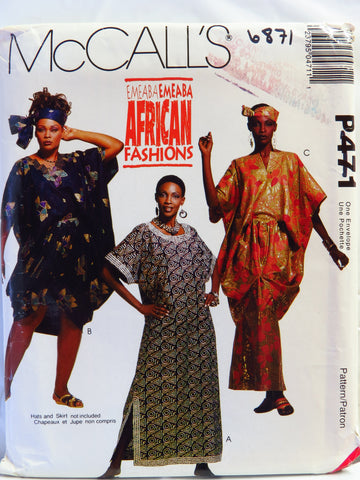 McCall's 0471 Misses' Caftans and Tunic -  - Smiths Depot Sewing Pattern Superstore