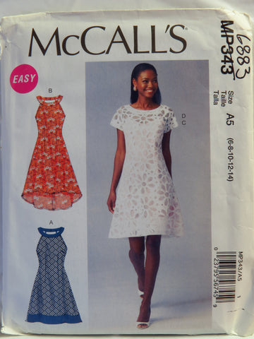 McCall's 0343 Misses' Dresses and Slip - A5 (6-8-10-12-14) - Smiths Depot Sewing Pattern Superstore