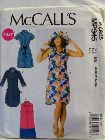 McCall's 0345 Misses' Dresses and Hats - B5 (8-10-12-14-16) - Smiths Depot Sewing Pattern Superstore