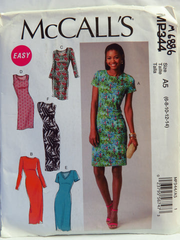 McCall's 0344 Misses' Dresses - A5 (6-8-10-12-14) - Smiths Depot Sewing Pattern Superstore
