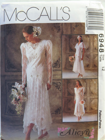 McCall's 6948 Misses' Bridal Gowns and Bridesmaids Dresses - 12 - Smiths Depot Sewing Pattern Superstore  - 1
