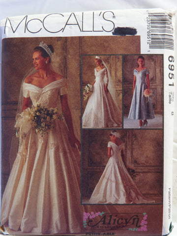 McCall's 6951 Misses' Bridal Gowns and Bridesmaids' Dresses - 8 - Smiths Depot Sewing Pattern Superstore