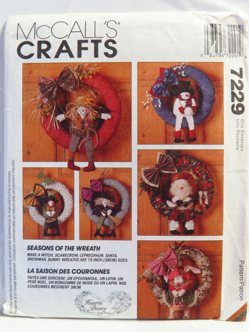 McCall's 7229 Seasonal Wreaths -  - Smiths Depot Sewing Pattern Superstore