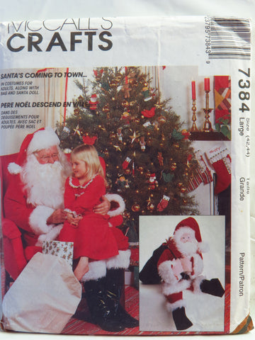 Mccalls 7384 Santa Claus Costume Bag And Doll Smiths Depot