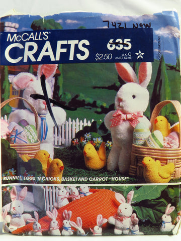 McCall's 0635 Easter Craft Package -  - Smiths Depot Sewing Pattern Superstore