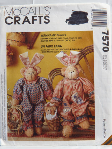 McCall's 7570 Wanna-Be Bunny -  - Smiths Depot Sewing Pattern Superstore