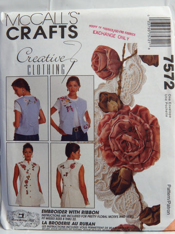 McCall's 7572 Misses' Vest in Two Lengths -  - Smiths Depot Sewing Pattern Superstore