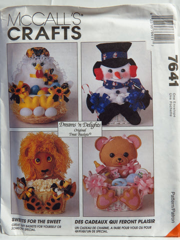 McCall's 7641 Sweets for the Sweet Gift Baskets -  - Smiths Depot Sewing Pattern Superstore