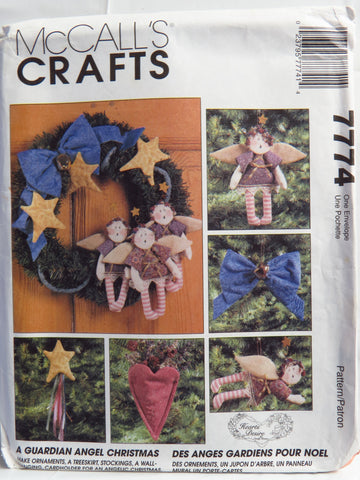 McCall's 7774 A Guardian Angel Christmas -  - Smiths Depot Sewing Pattern Superstore