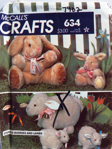 McCall's 0634 Stuffed Bunnies and Lambs -  - Smiths Depot Sewing Pattern Superstore