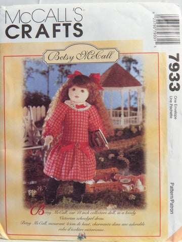 McCall's 7933 Betsy McCall Doll With Clothes -  - Smiths Depot Sewing Pattern Superstore