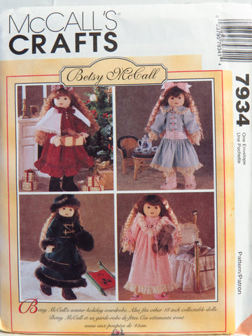 McCall's 7934 Betsy McCall Doll Clothes -  - Smiths Depot Sewing Pattern Superstore