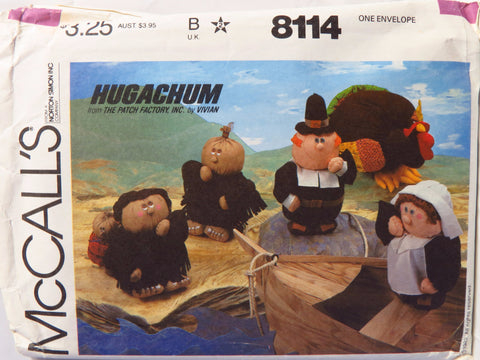 McCall's 8114 Hugachum Thanksgiving -  - Smiths Depot Sewing Pattern Superstore