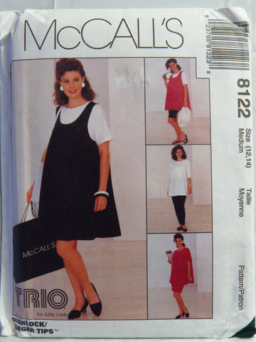 McCall's 8122 Maternity Dress, Tank Top, Top, Pull-On Pants, Shorts and Skirt - Medium (12-14) - Smiths Depot Sewing Pattern Superstore