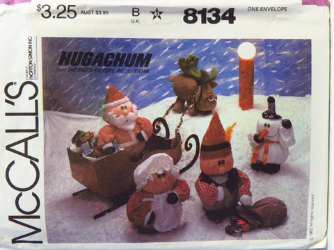McCall's 8134 Hugachums Christmas Package -  - Smiths Depot Sewing Pattern Superstore