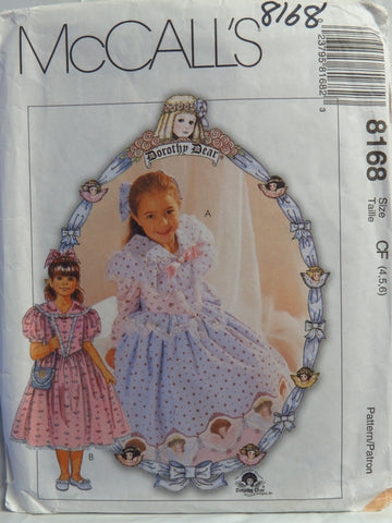 McCall's 8168 Children's and Girls' Dresses, Hair Bow and Purse - CF (4-5-6) - Smiths Depot Sewing Pattern Superstore