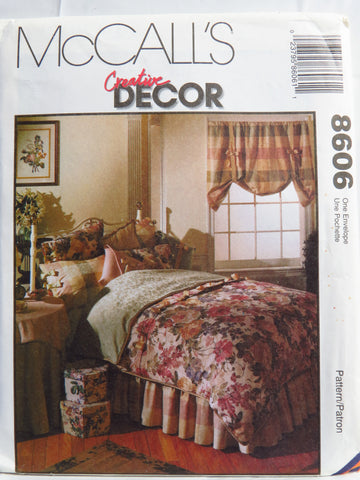 McCall's 8606 Bedroom Essentials -  - Smiths Depot Sewing Pattern Superstore