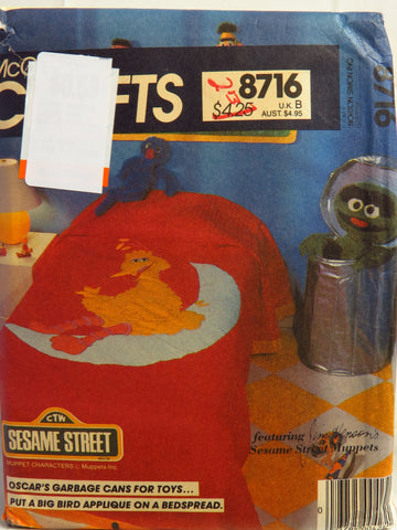 McCall's 8716 Sesame Street Room Accessories -  - Smiths Depot Sewing Pattern Superstore