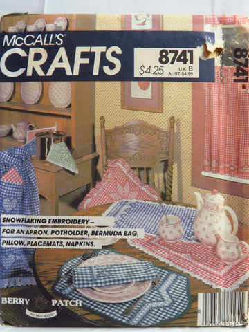 McCall's 8741 Snowflaking Embroidery -  - Smiths Depot Sewing Pattern Superstore