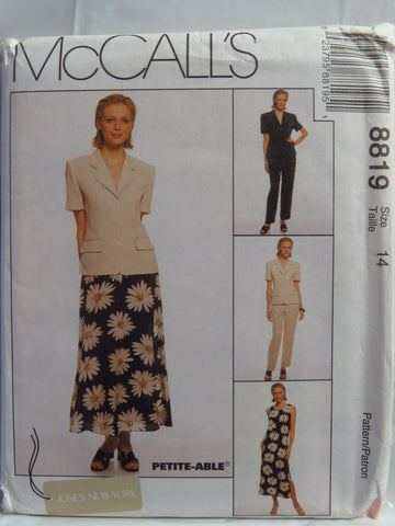 McCall's 8819 Misses' Lined Jacket, Lined Dress, Pants and Skirt -  - Smiths Depot Sewing Pattern Superstore
