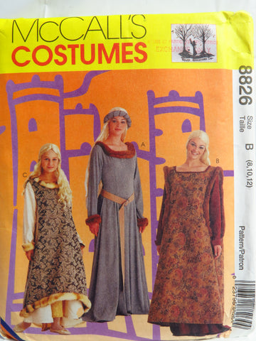 McCall\'s 8826 Misses\' and Girls\' Medieval Costumes – Smiths Depot ...