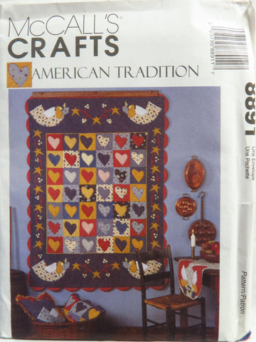 McCall's 8891 American Tradition Quilt and Home Decor Accessories -  - Smiths Depot Sewing Pattern Superstore